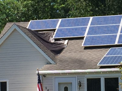 UGLY Solar Installation in Monmouth County NJ. This is NOT A Green Sun Installation