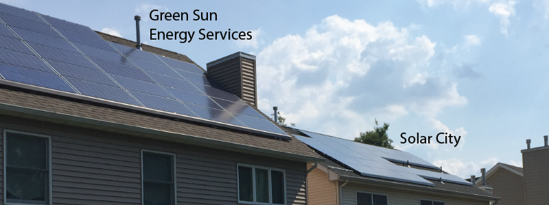 UGLY Solar city Installation in scotch plains NJ. This is NOT A Green Sun Installation